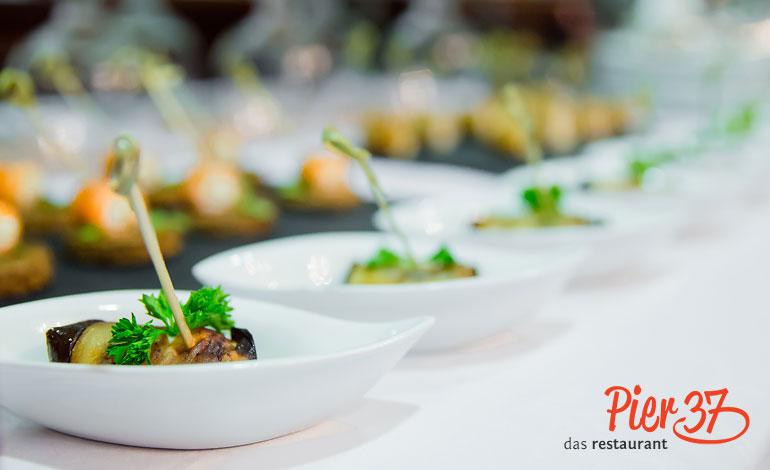 Feiern, Tagung, Catering, Reservieren, Pier 37, Restaurant Erfurt, Gaststätte, Thüringer Küche, Essen, Business-Lunch, Regionales Essen, Gourmet, Catering, Feiern