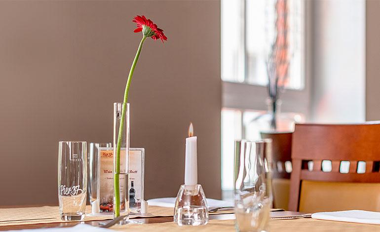 Pier 37, Restaurant Erfurt, Gaststätte, Thüringer Küche, Essen, Business-Lunch, Regionales Essen, Gourmet, Catering, Feiern