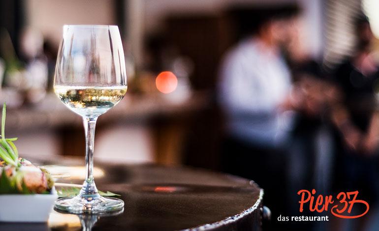 Weißwein, Pier 37, Restaurant Erfurt, Gaststätte, Thüringer Küche, Essen, Business-Lunch, Regionales Essen, Gourmet, Catering, Feiern